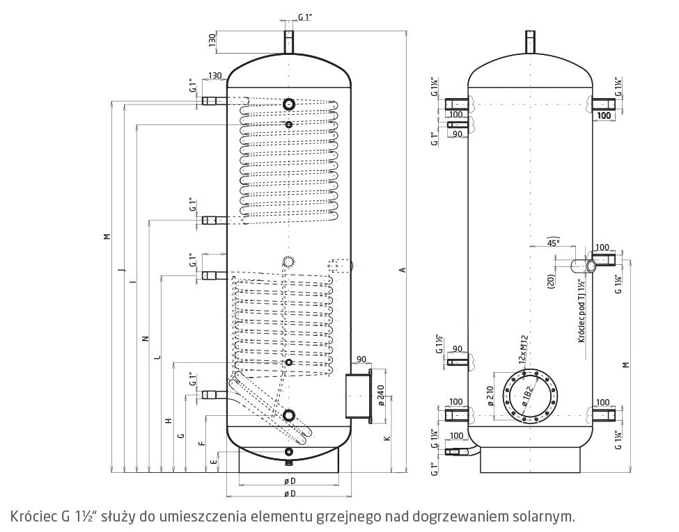 Буферная емкость с двумя теплообменниками теплообменник вода нн