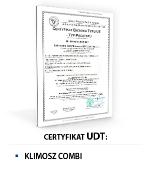 Certyfikat UDT KLIMOSZ COMBI