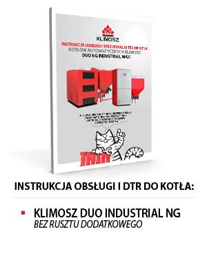 Instrukcja obsługi KLIMOSZ DUO INDUSTRIAL NG - bez rusztu dodatkowego
